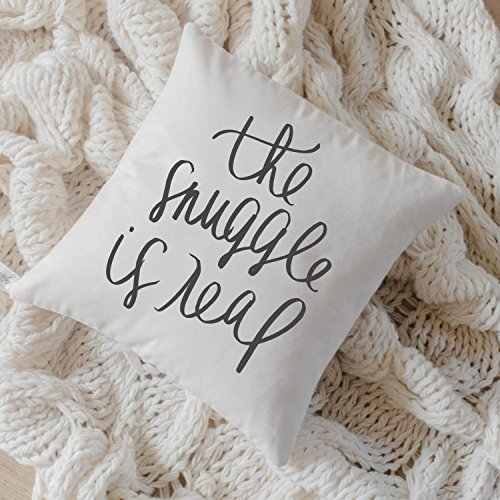 Pillow Cover - The Snuggle Is Real, home decor, present, housewarming gift, cushion cover, throw pillow, cushion, pillow case