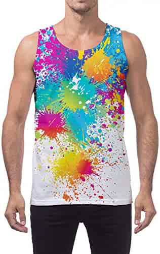 a11148e7a65ad Leapparel Mens 3D Print Tank Tops Summer Casual Work Out Sleeveless  Graphics Tees Sport Gym Shirt