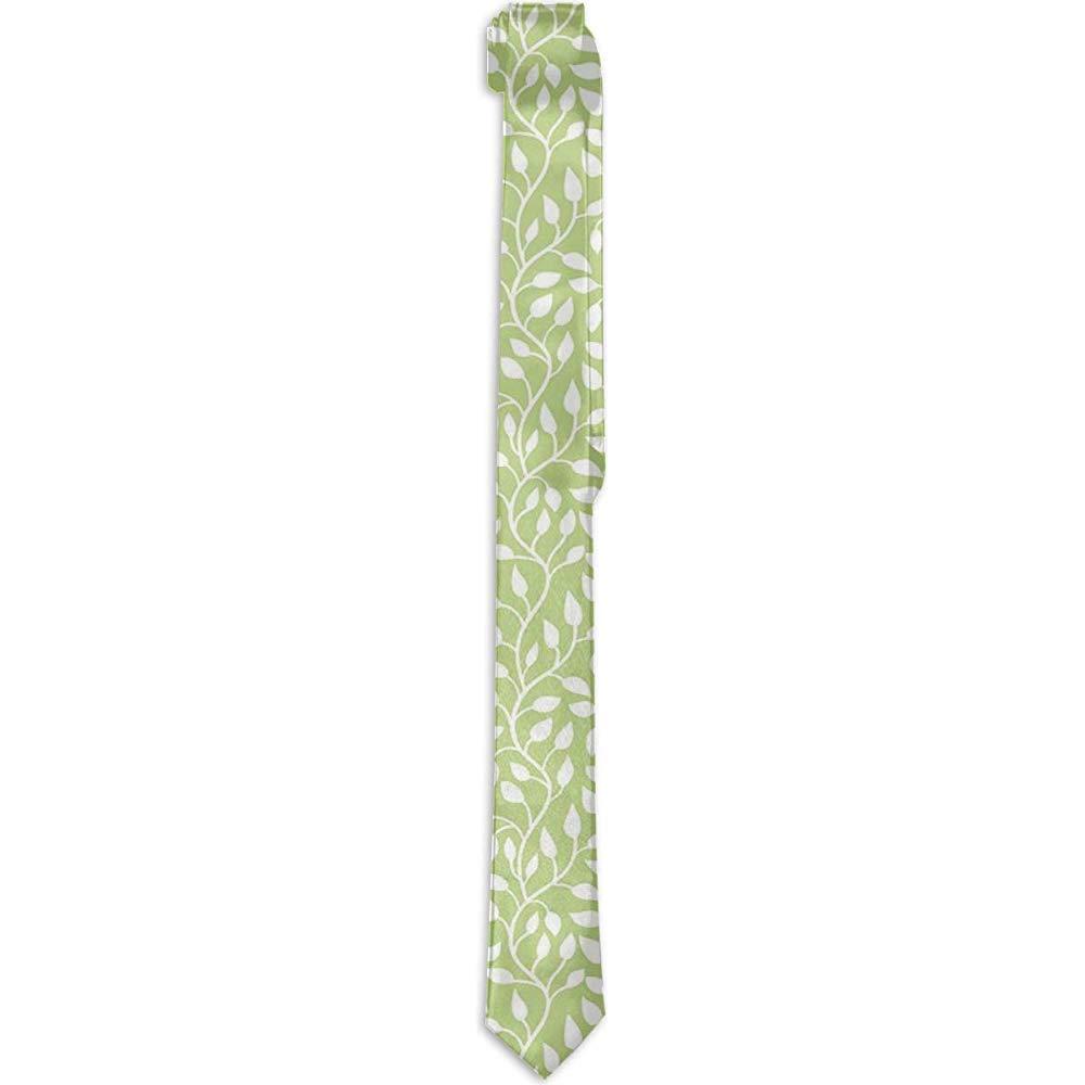 Corbata floral estampada para hombres, ramitas curvilíneas con ...
