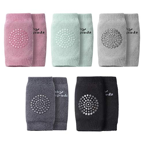 Baby Knee Pads For Crawling(5Pairs) – Encci Unisex Cotton Toddlers Baby Leg Warmers