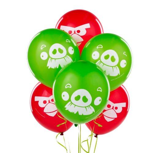 Angry Birds Printed Latex Balloons- Assorted Colors]()