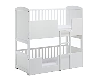 low cost e5b5d 4ac16 The Bunk Cot Company 3-in-1 Bunkcot 0-6 yrs (White)