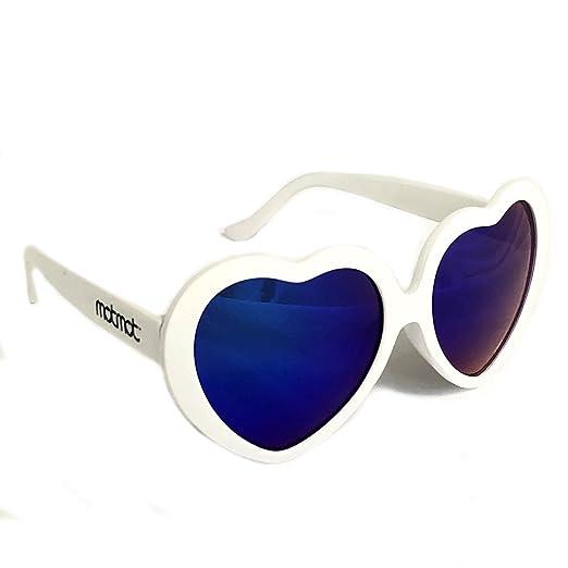 9a9a1e2e7e0a Amazon.com: White Heart Shaped Sunglasses for Kids, Children, Baby ...