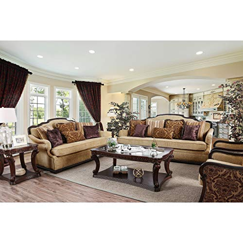Used, HOMES: Inside + Out IDF-6584-3PC Kearney Sofa Set Dark for sale  Delivered anywhere in USA