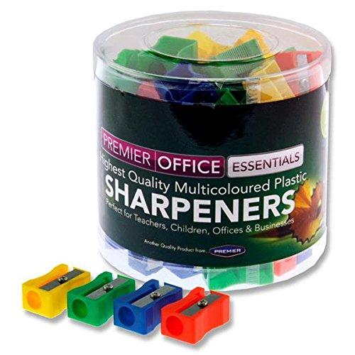 Premier papeterie Plastique taille-crayons/ /Couleurs assorties Lot de 72