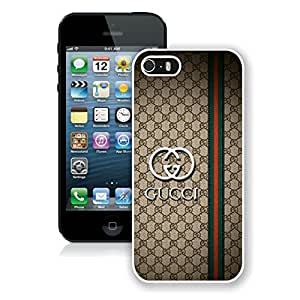 Fahionable Custom Designed iPhone 5S Cover Case With Gucci 15 White Phone Case