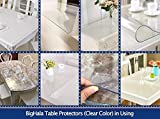 """32 x 60 """" Clear Dining Table Top Protector Wipeable"""