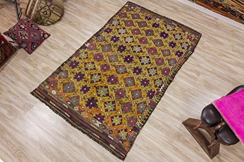 Oushak Kilim Rug, Vintage Kilim Rug 5.31x8.17 ft (162x249 cm)