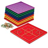Learning Resources LER0153 Classpack Geoboards, 7-Inch, Set of 10