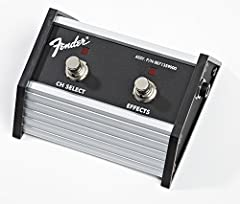 """Restore your contemporary Fender amp's footswitch functionality with a genuine replacement Fender footswitch. Features 1/4"""" plug."""