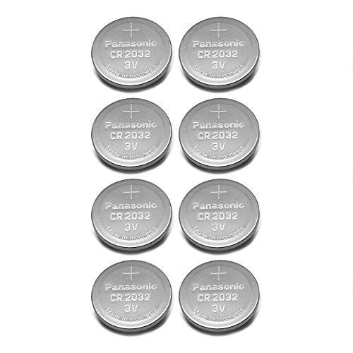 - Panasonic CR2032 3V Lithium Coin Battery (Pack of 8)