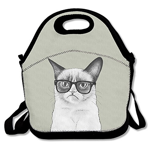 Food Storage Thermal Insulated Zipper Bags Grumpy Cat Lunch Bag Tote Fashion Backpack For Adult Or Children