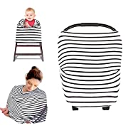 Kyapoo Nursing Breastfeeding Cover, Multi Use Scarf, Baby Car Seat Cover, Canopy Infinity Stretchy Shawl