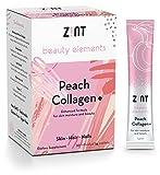 Sweet Collagen Powder Peptides Beauty Water (Peach): Hydrolyzed Marine Collagen + Acai, Hyaluronic Acid, Glucosamine, Vitamin C – Sugar-Free, Anti-Aging Protein Drink, 30 Packets