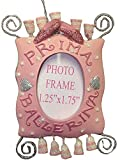 "Pink & Silver ""Prima Ballerina"" Picture Frame Christmas Ornament #W7112"