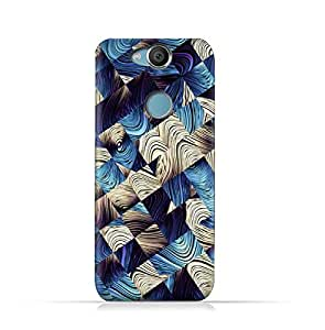 Sony Xperia XA2 TPU Silicone Protective Case with Digital Art Abstract Pattern Design
