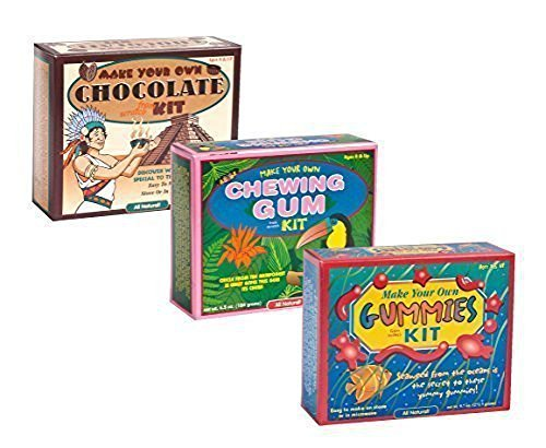 Make Your Own Chocolate Gummy and Chewing Gum Kits - 3 Pack Bundle Chocolate Kit