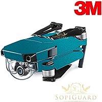 SopiGuard 3M Gloss Teal Blue Green Precision Edge-to-Edge Coverage Vinyl Skin Controller Battery Wrap for DJI Mavic Pro