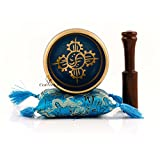 CraftVatika ~ Tibetan Singing Bowl Set ~ Om Mani Padme Hum ~ With Mallet & Silk Cushion ~ For Meditation, Chakra Healing, Prayer ,Yoga, and Mindfulness ~ Perfect Gift (Blue)