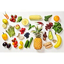 Fruits Vegetables Banana Pineapple Berries Colorful Photo Poster 36x24 inch