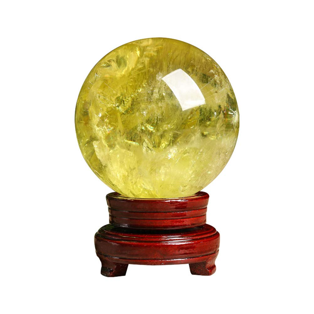 GWLTV Natural Citrine Healing Gemstone,Feng Shui Natural Citrine Crystal,diameter4cm by GWLTV
