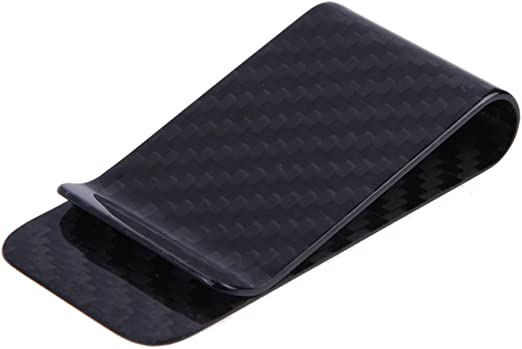 100/% Real Matte Carbon Fiber Money Clip Holder Business Credit Card Cash Wallet
