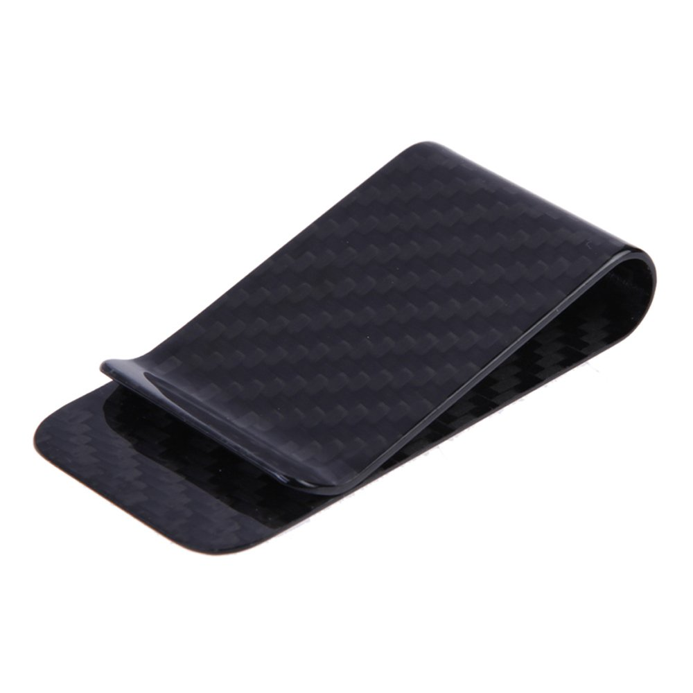 Anself Real Carbon Fiber Money Clip Business Card Credit Card Cash Wallet (Matte)