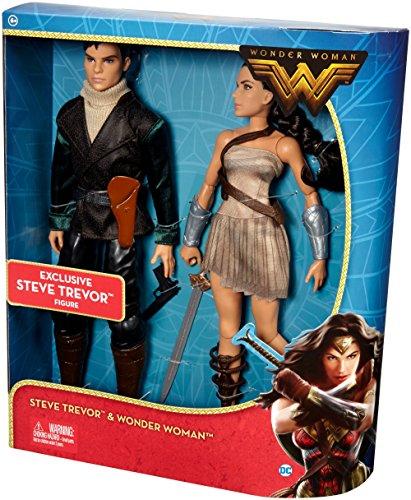 DC Comics Wonder Woman & Steve Trevor Action Figure, 2 Pack