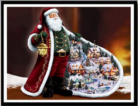mgjyjy Christmas Santa Claus Needlework DIY 5D Diamond Painting Full Rhinestone DES - 40cmx30cm/16inx12in ()