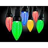AppLights Lightshow 24-Light LED Multi-Color C9 Shape String Light Set Lighting Solution - Change Color and Theme 140 Effects with an App on your Smartphone