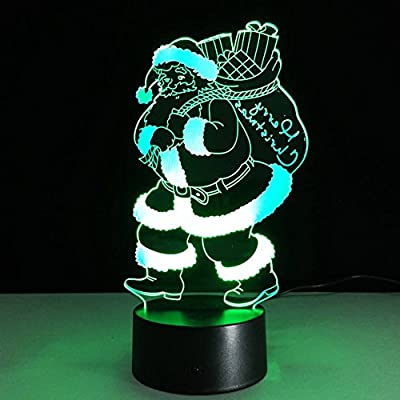 Lamp Innovative Santa Claus Colorful LED Night Lamp 7Colors RGB Led Touch Lamp as Creative Gifts Lampara USB