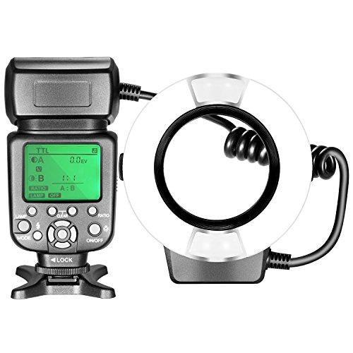 Neewer Macro TTL Ring Flash Light with AF Assist Lamp for Nikon DSLR Camera such as D7200 D7100 D7000 D5500 D5300 D5200 D5100 D3300 D3200 D3100 D500 D60 D50