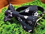 Black Paisley Pet Bow Tie