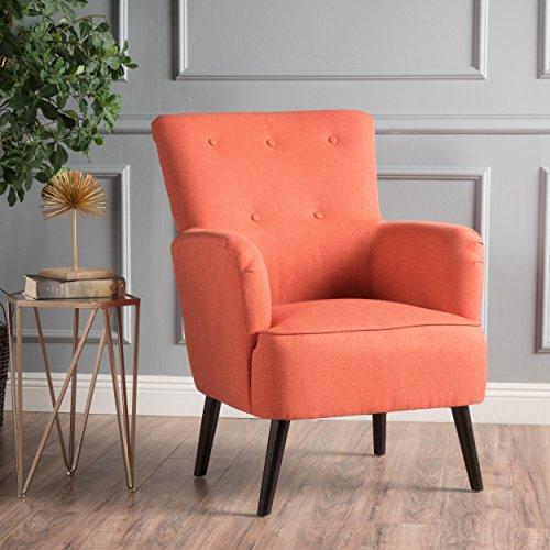 Christopher Knight Home 300774 Kolin Fabric Arm Chair, Dark Salmon