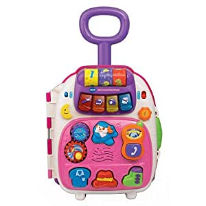 Amazon.com: Vtech Roll & Learn Activity Suitcase - Pink ...