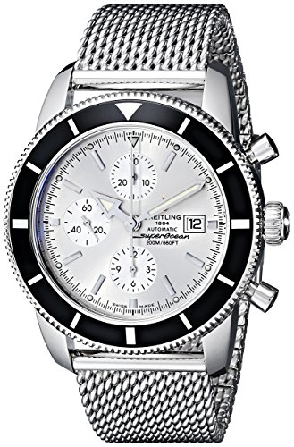 Breitling Men's A1332024-G698 Analog Display Swiss Automatic Silver Watch