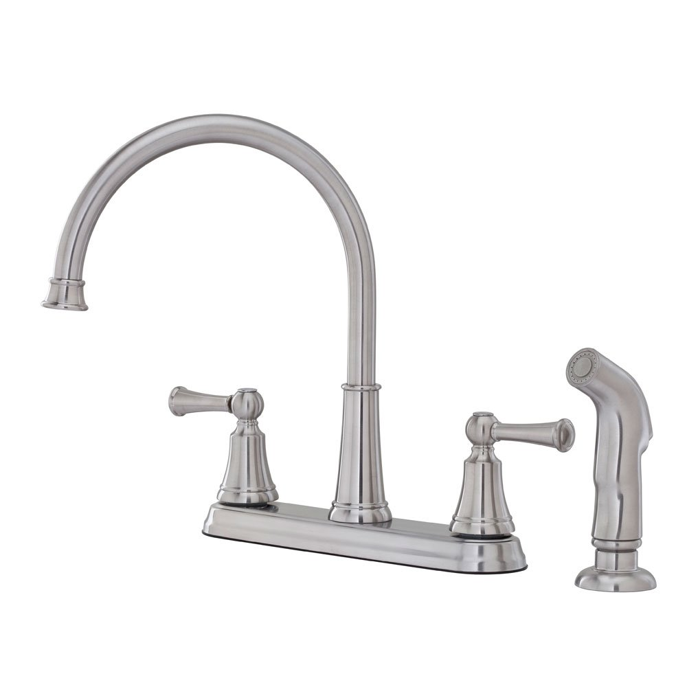 Pfister Bremerton 2 Handle Kitchen Faucet With Side Spray, Stainless Steel    Touch On Kitchen Sink Faucets   Amazon.com