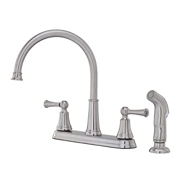 Pfister Bremerton 2-Handle Kitchen Faucet with Side Spray, Stainless ...