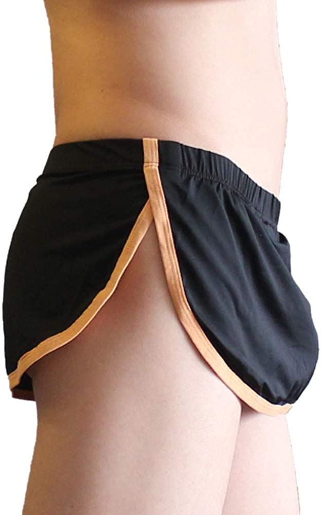 KAMUON Men's Sexy Pouch Thong G-String Boxer Underwear Panties Home Sleep Shorts