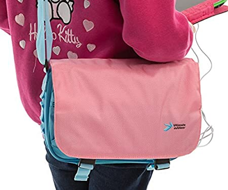 Ultimateaddons Kids Pink//Turquoise Messenger Style Bag for  Fire HD Kids Edition