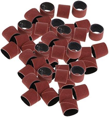 Perfeclan 全10種 ネイルドリルビット 交換用ビッ サンドペーパーリング マニキュア ペディキュアツール 約50個 -