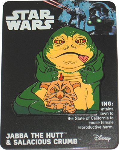 Star Wars Celebration 2017 Orlando Exclusive Jabba the Hutt and Salcious Crumb Enameled Metal Cloisonné Pin Enameled Cloisonne