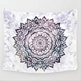Shukqueen Tapestry, Psychedelic Indian Mandala Purple Flower Wall Hanging Tapestry Wall Decor Art for Living Room Bedroom Dorm Decoration M/150x130 cm