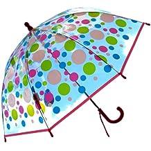RainStoppers W107CHMDOTS Kid's Plastic Dots Print Umbrella, 34-Inch
