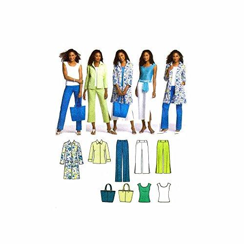 Simplicity 4699 Sewing Pattern Misses Full Figure Pants Coat Jacket Top Bag Plus Size 20 - 28