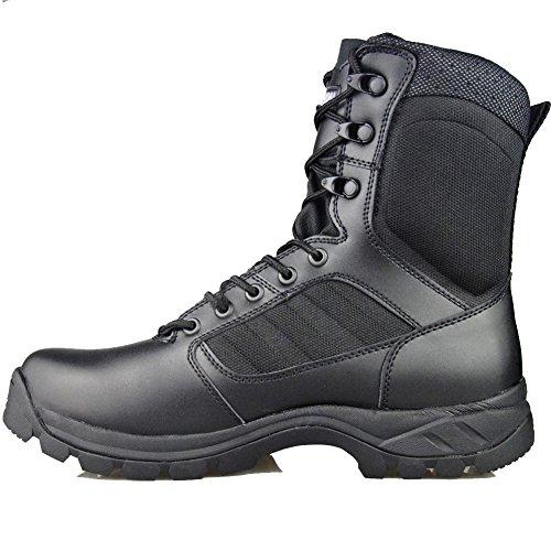 GRAMOT Men's ETF Black Jungle&Desert Tactical Boots Lace up Men Boots Microfiber Leather Military Boots Outdoor Combat Snow Boots 7 D(M) US