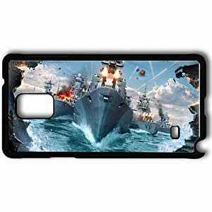 Personalized Samsung Note 4 Cell phone Case/Cover Skin Aircraft Fleet Ships Fire Explosions Sea Black