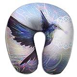 Oils Hummingbird Lightweight Neck Pillow Spa Memory Foam U-SHAPE Sleeping Teen