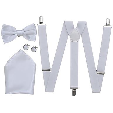 vidaXL Accesorios traje de hombre para bodas con tirantes y pajarita