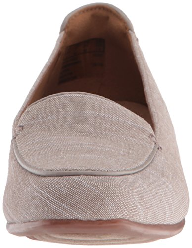 Clarks mujer Keesha Luca Slip-On Loafer Gris Topo (Taupe Linen)